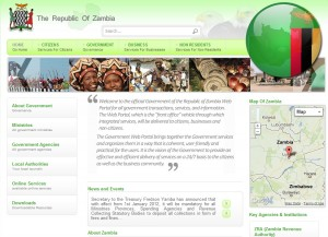 Republic of Zambia Home Page Screenshot